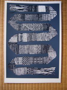dark grey strap weave print