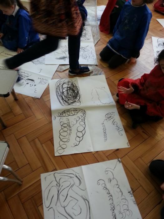 drawing the sounds in music
