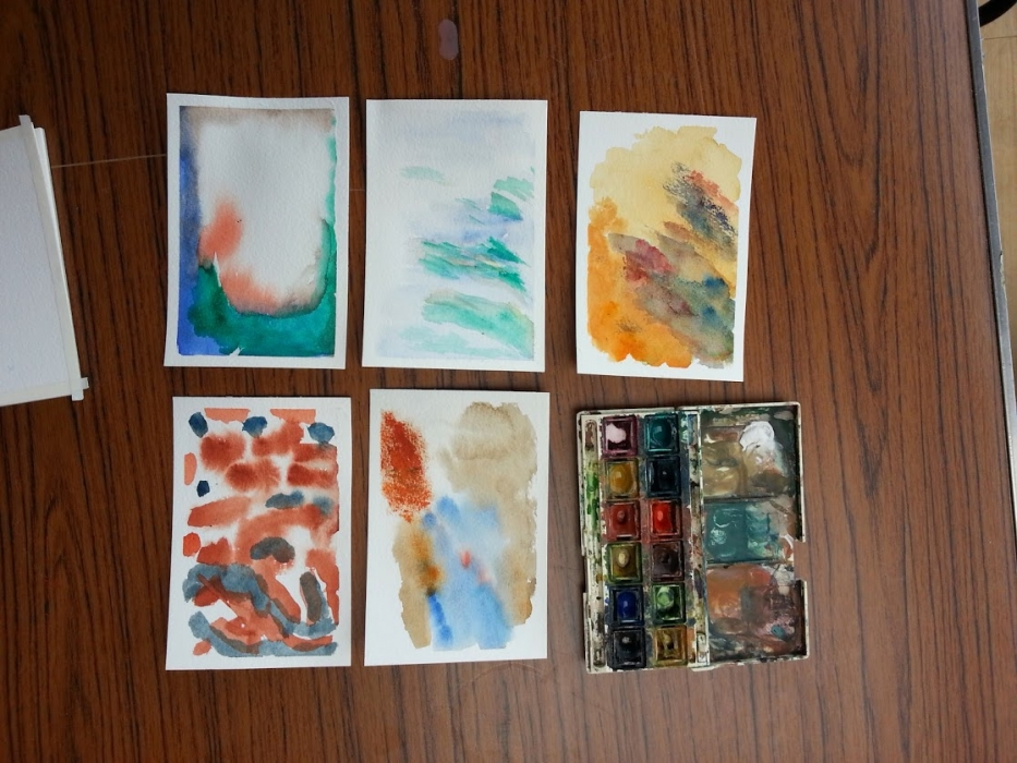 watercolour display