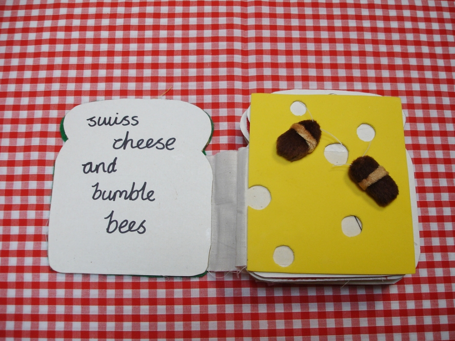 CHeese and bees tactile book
