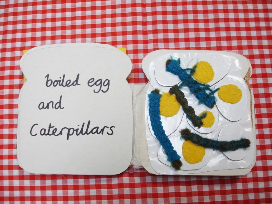 egg caterpillars tactile book