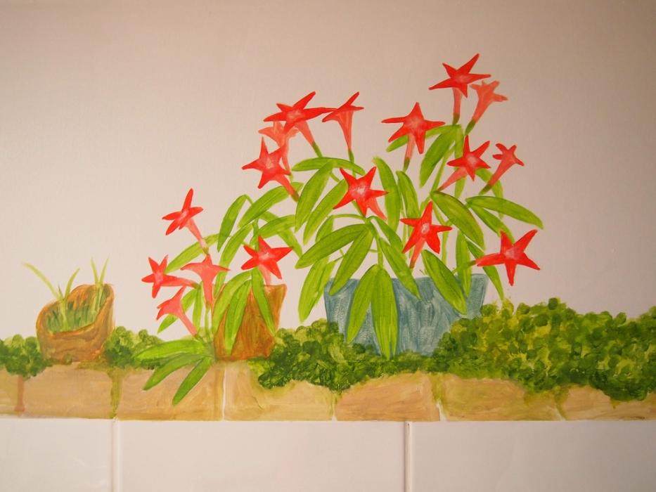 star flower mural