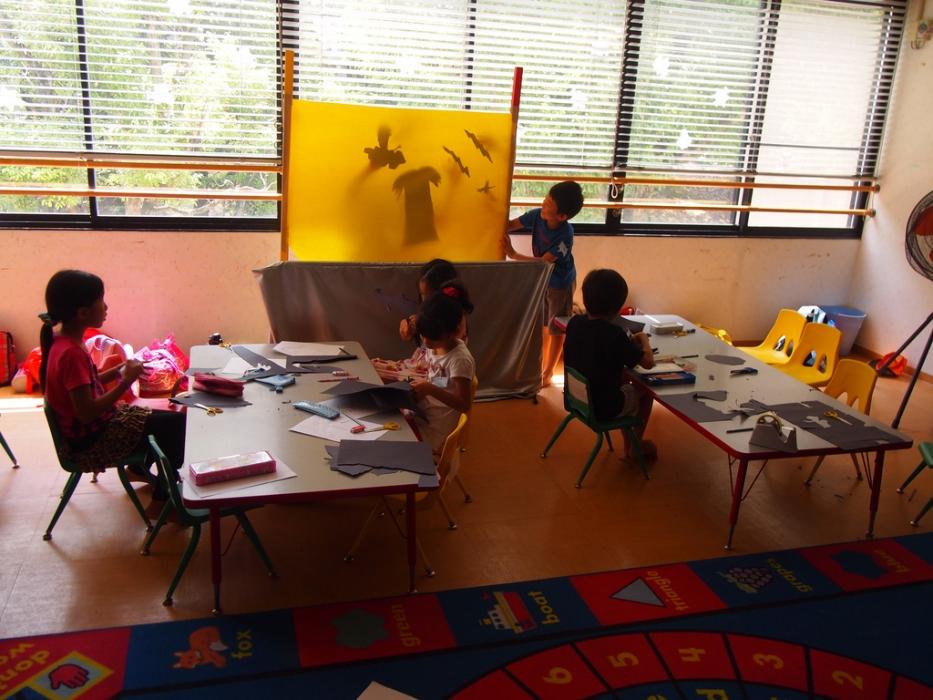 children shadow puppet theatre