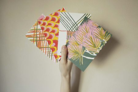 hand fan postcard print 2