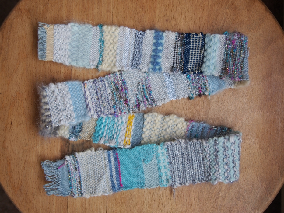 Blue belt weaving