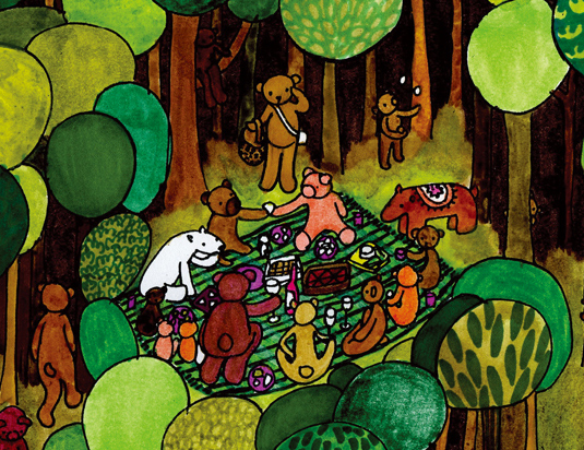 Bear Picnic detail