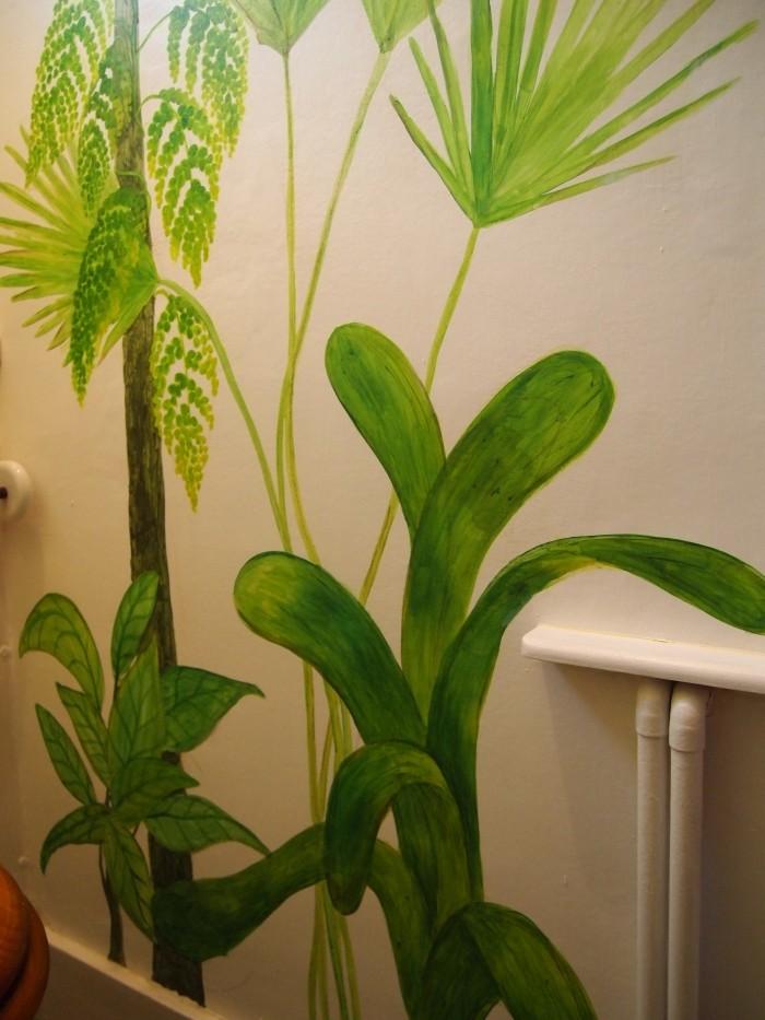 waxy leaf mural