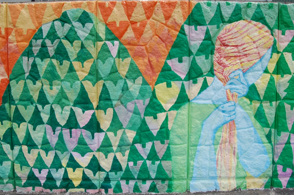 tree heart mural plait