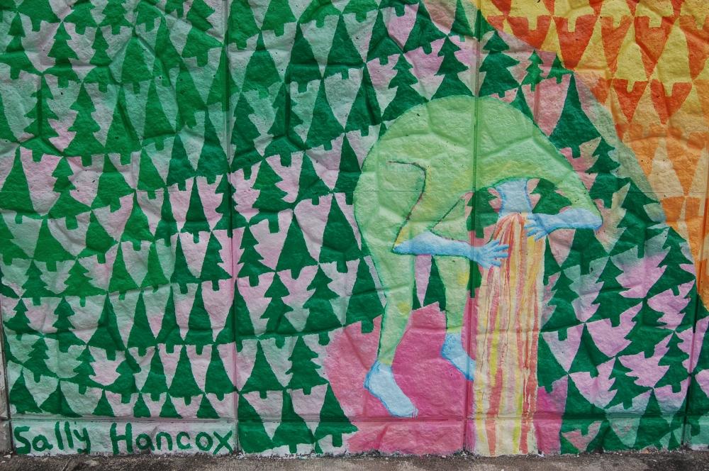 tree heart mural wash
