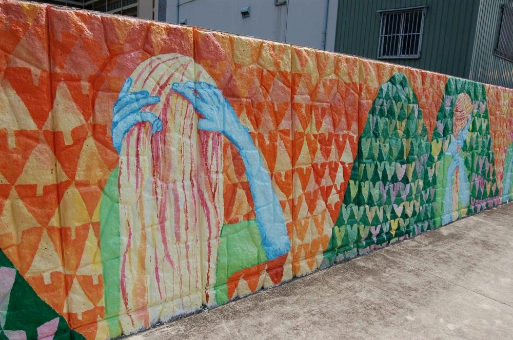 tree heart mural hair